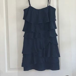 BCBGMAXAZRIA Navy Blue Strapless Night Out Dress